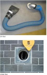 Фото Встроенная в пол система удаления выхлопных газов
