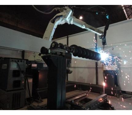 Фото Роботизированный комплекс сварки шнека