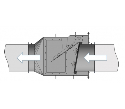 Фото Explosion Isolation Flap Valve CARZ-N Ø710 -1 000mm