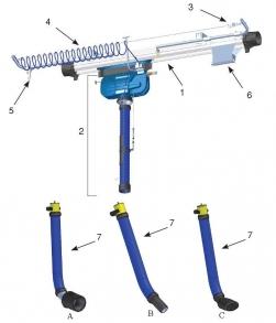 Фото Выхлопная система 920, пневматическая система для движущихся транспортных средств